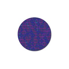 Grid Lines Square Pink Cyan Purple Blue Squares Lines Plaid Golf Ball Marker (10 Pack) by Mariart