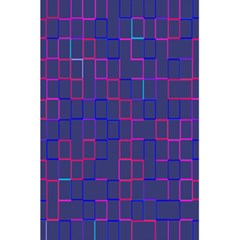 Grid Lines Square Pink Cyan Purple Blue Squares Lines Plaid 5.5  x 8.5  Notebooks by Mariart