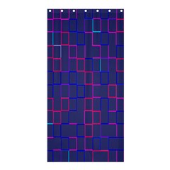 Grid Lines Square Pink Cyan Purple Blue Squares Lines Plaid Shower Curtain 36  X 72  (stall)  by Mariart