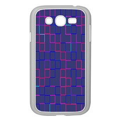 Grid Lines Square Pink Cyan Purple Blue Squares Lines Plaid Samsung Galaxy Grand Duos I9082 Case (white) by Mariart