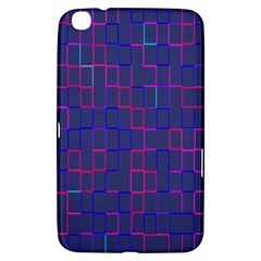 Grid Lines Square Pink Cyan Purple Blue Squares Lines Plaid Samsung Galaxy Tab 3 (8 ) T3100 Hardshell Case  by Mariart
