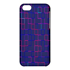 Grid Lines Square Pink Cyan Purple Blue Squares Lines Plaid Apple Iphone 5c Hardshell Case by Mariart
