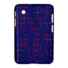 Grid Lines Square Pink Cyan Purple Blue Squares Lines Plaid Samsung Galaxy Tab 2 (7 ) P3100 Hardshell Case  by Mariart