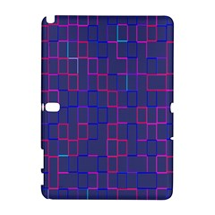 Grid Lines Square Pink Cyan Purple Blue Squares Lines Plaid Galaxy Note 1 by Mariart