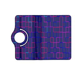 Grid Lines Square Pink Cyan Purple Blue Squares Lines Plaid Kindle Fire Hd (2013) Flip 360 Case by Mariart