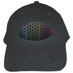 Hexagons Honeycomb Black Cap by Mariart