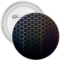 Hexagons Honeycomb 3  Buttons by Mariart
