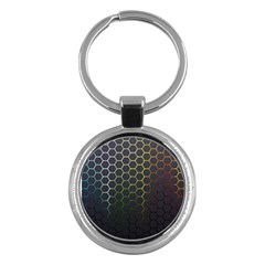 Hexagons Honeycomb Key Chains (round)  by Mariart