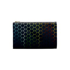 Hexagons Honeycomb Cosmetic Bag (small)  by Mariart