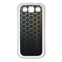 Hexagons Honeycomb Samsung Galaxy S3 Back Case (white) by Mariart