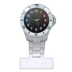 Hexagons Honeycomb Plastic Nurses Watch by Mariart