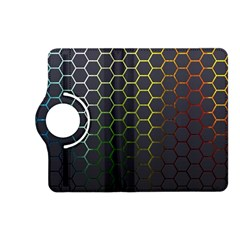 Hexagons Honeycomb Kindle Fire Hd (2013) Flip 360 Case by Mariart