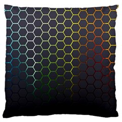 Hexagons Honeycomb Large Flano Cushion Case (two Sides) by Mariart