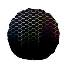 Hexagons Honeycomb Standard 15  Premium Flano Round Cushions by Mariart