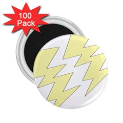 Lightning Yellow 2 25  Magnets (100 Pack)  by Mariart