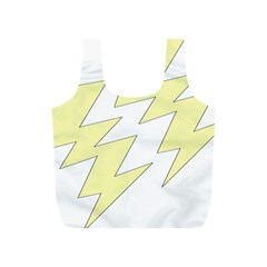 Lightning Yellow Full Print Recycle Bags (s)  by Mariart