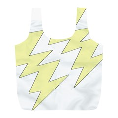 Lightning Yellow Full Print Recycle Bags (l)  by Mariart