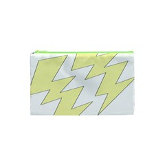 Lightning Yellow Cosmetic Bag (xs) by Mariart
