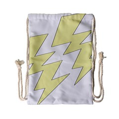 Lightning Yellow Drawstring Bag (small) by Mariart