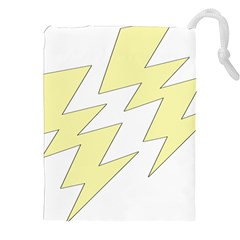 Lightning Yellow Drawstring Pouches (xxl) by Mariart