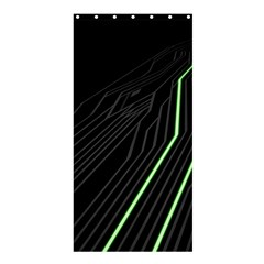 Green Lines Black Anime Arrival Night Light Shower Curtain 36  X 72  (stall)  by Mariart