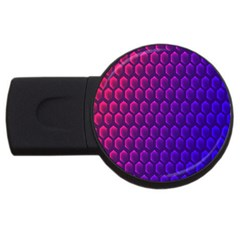 Hexagon Widescreen Purple Pink Usb Flash Drive Round (2 Gb) by Mariart