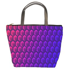Hexagon Widescreen Purple Pink Bucket Bags by Mariart