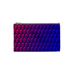 Hexagon Widescreen Purple Pink Cosmetic Bag (small)  by Mariart