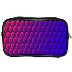 Hexagon Widescreen Purple Pink Toiletries Bags by Mariart