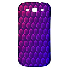 Hexagon Widescreen Purple Pink Samsung Galaxy S3 S Iii Classic Hardshell Back Case by Mariart
