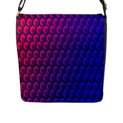 Hexagon Widescreen Purple Pink Flap Messenger Bag (l)  by Mariart