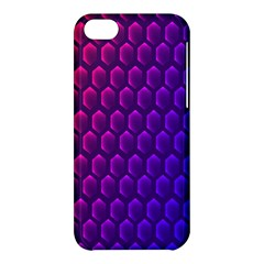 Hexagon Widescreen Purple Pink Apple Iphone 5c Hardshell Case by Mariart