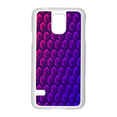 Hexagon Widescreen Purple Pink Samsung Galaxy S5 Case (white) by Mariart