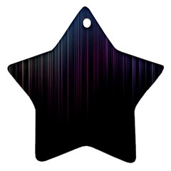 Moonlight Light Line Vertical Blue Black Star Ornament (two Sides) by Mariart