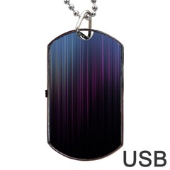 Moonlight Light Line Vertical Blue Black Dog Tag Usb Flash (two Sides) by Mariart