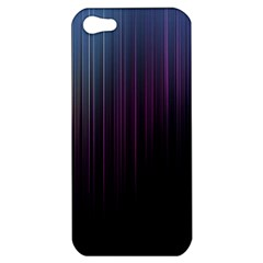 Moonlight Light Line Vertical Blue Black Apple Iphone 5 Hardshell Case by Mariart