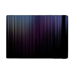 Moonlight Light Line Vertical Blue Black Apple Ipad Mini Flip Case by Mariart
