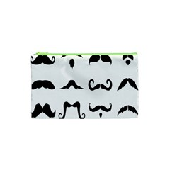 Mustache Man Black Hair Style Cosmetic Bag (xs) by Mariart