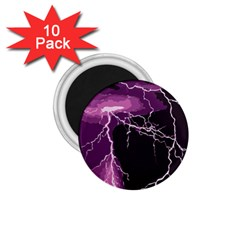 Lightning Pink Sky Rain Purple Light 1 75  Magnets (10 Pack)  by Mariart