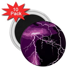 Lightning Pink Sky Rain Purple Light 2 25  Magnets (10 Pack)  by Mariart