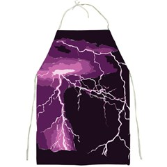Lightning Pink Sky Rain Purple Light Full Print Aprons by Mariart
