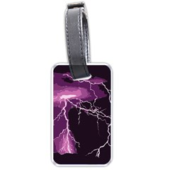 Lightning Pink Sky Rain Purple Light Luggage Tags (one Side)  by Mariart