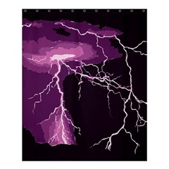 Lightning Pink Sky Rain Purple Light Shower Curtain 60  X 72  (medium)  by Mariart