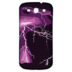 Lightning Pink Sky Rain Purple Light Samsung Galaxy S3 S Iii Classic Hardshell Back Case by Mariart