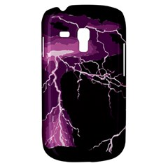 Lightning Pink Sky Rain Purple Light Galaxy S3 Mini by Mariart