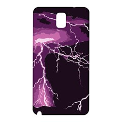 Lightning Pink Sky Rain Purple Light Samsung Galaxy Note 3 N9005 Hardshell Back Case by Mariart