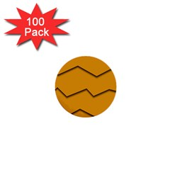Orange Shades Wave Chevron Line 1  Mini Buttons (100 Pack)  by Mariart