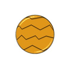 Orange Shades Wave Chevron Line Hat Clip Ball Marker (10 Pack) by Mariart