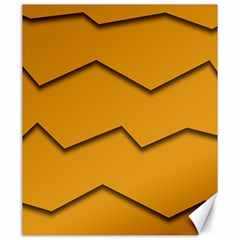 Orange Shades Wave Chevron Line Canvas 20  X 24   by Mariart