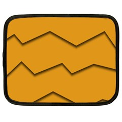 Orange Shades Wave Chevron Line Netbook Case (xxl)  by Mariart